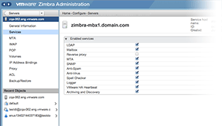 zimbra-screenshot-admin